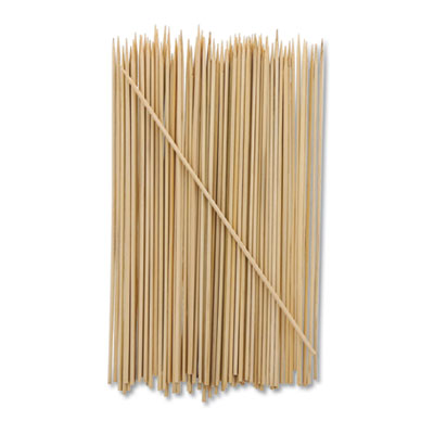 "Bamboo Skewer, Cream, 8"", 19200/Carton"