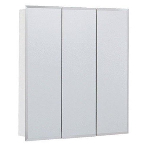 "Bevel Mirror 24"" Triview Medicine Cabinet with 2 Adjustable Shelves"
