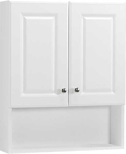 WHITE BATH STORAGE CABINET, 23 IN.