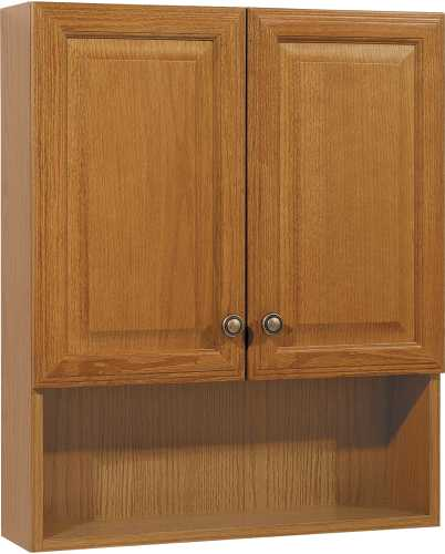 OAK BATH STORAGE CABINET 23 IN.