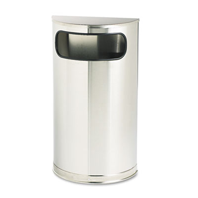 Rubbermaid 9 Gallon Fire-Safe Half-Round Metal Trash Can