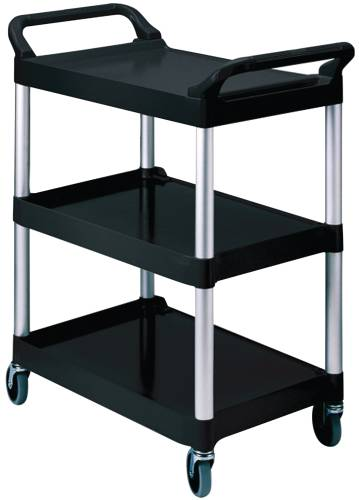"""Utility Cart With 4"""" Diameter Swivel Casters, Black"""