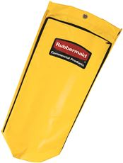 34-GALLON JANITORIAL CLEANING CART VINYL BAG, TRADITIONAL, YELLOW