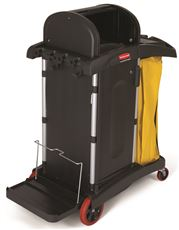 RUBBERMAID� COMMERCIAL HIGH-SECURITY JANITOR CART FOR MICROFIBER PRODUCTS, BLACK