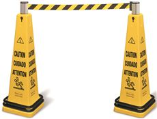 CONE BARRICADE SYSTEM YELLOW
