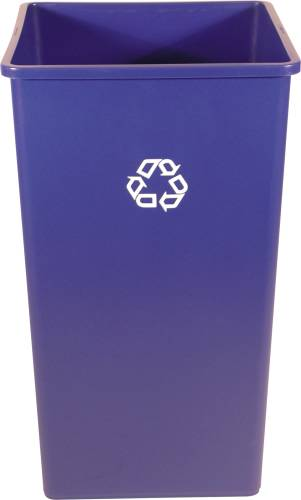 RUBBERMAID� COMMERCIAL SQUARE RECYCLING CONTAINER, BLUE, 50 GALLONS