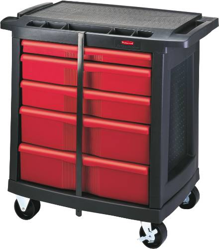 MOBILE WORK CENTER BLACK 5 DRAWER