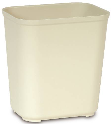 RUBBERMAID� COMMERCIAL FIRE-RESISTANT TRASH CAN, BEIGE, 28 QUARTS