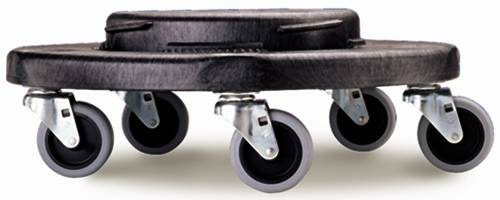 BRUTE� TRASH CAN DOLLY FOR BRUTE� CONTAINERS, BLACK, 18.2X6.6""