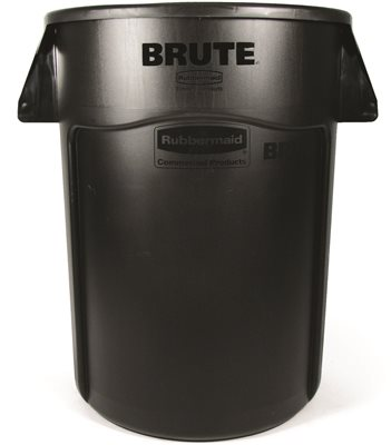 BRUTE� VENTED UTILITY TRASH CAN WITHOUT LID, GRAY, 44 GALLONS