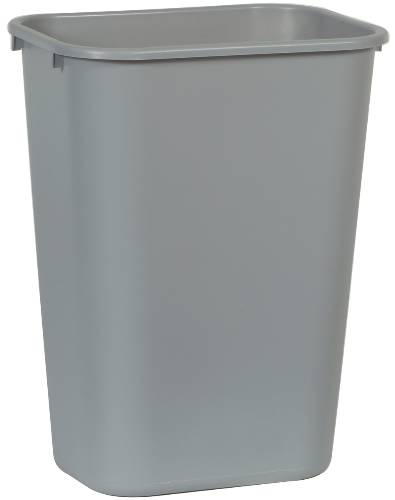 RUBBERMAID� COMMERCIAL DESK-SIDE TRASH CAN, GRAY, 41-1/4 QUARTS