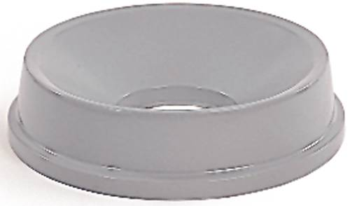 UNTOUCHABLE� ROUND FUNNEL-TOP TRASH CAN LID FOR UNTOUCHABLE� CONTAINERS, GRAY, 16.2""