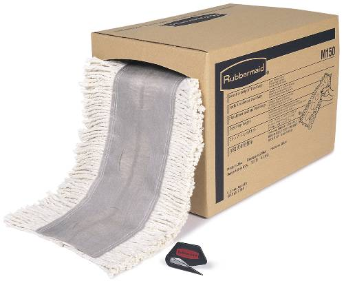 DUST MOP CUT TO LENGTH 5 IN X 40 FT WHITE