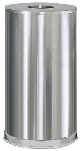 ATRIUM� OPEN-TOP TRASH CAN, STAINLESS STEEL, 16 GALLONS