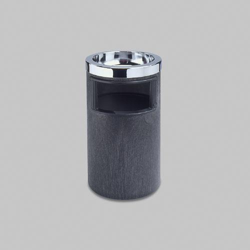 Smoking Urn w/Ashtray and Metal Liner, 19.5H x 12.5 dia, Black