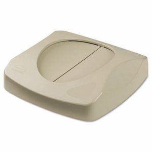 "Swing Top Lid for Untouchable Recycling Center, 16"" Square, Beige"
