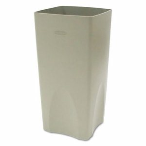Plaza Waste Container Rigid Liner, Square, Plastic, 19gal, Beige
