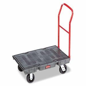 "Heavy-Duty Platform Truck Cart, 2000 lb Capacity, 24"" x 48"" Platform, Black"