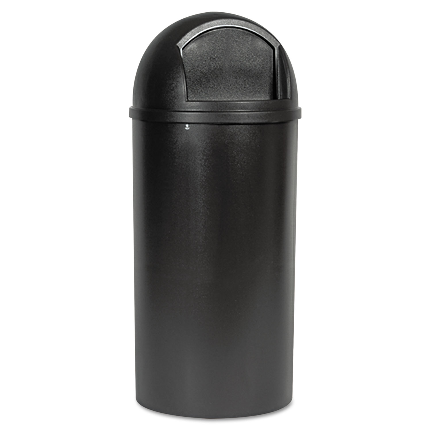 Marshal Classic Container, Round, Polyethylene, 25gal, Brown