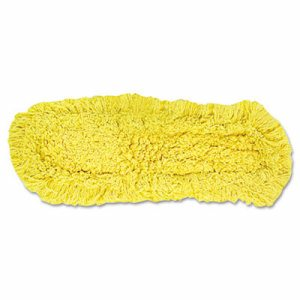 """Trapper Commercial Dust Mop, Looped-end Launderable, 5"""" x 18"""", Yellow"""