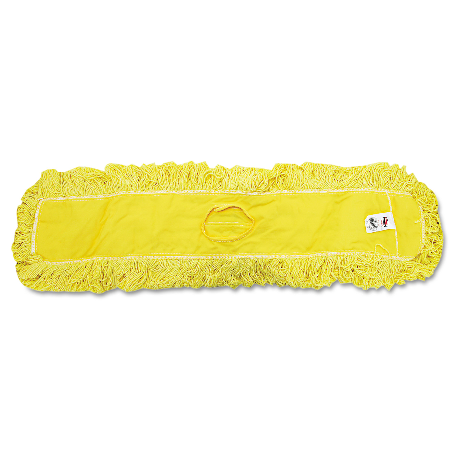 """Trapper Commercial Dust Mop, Looped-end Launderable, 5"""" x 36"""", Yellow"""