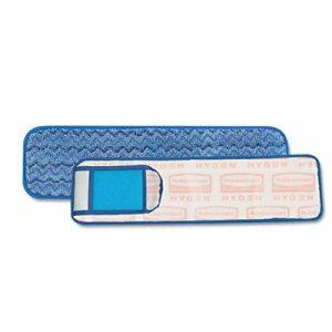 "HYGEN Wet Pad w/Scrubber, Nylon/Polyester Microfiber, 18"" Long, Blue"