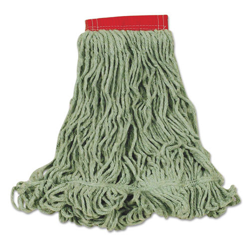 Super Stitch Blend Mop Heads, Cotton/Synthetic, Green, Large
