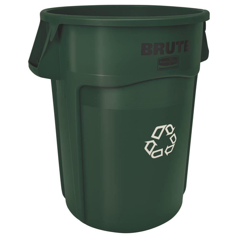 Brute Recycling Container, Round, 44 gal, Dark Green