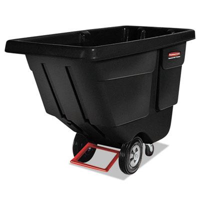 Rotomolded Tilt Truck, Rectangular, Plastic, 450-lb Cap., Black