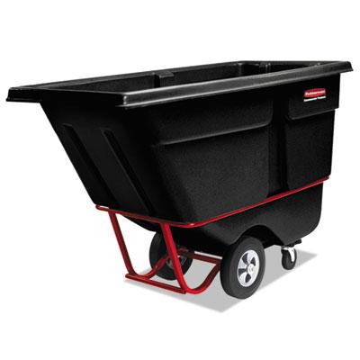 Rotomolded Tilt Truck, Rectangular, Plastic, 1400-lb Cap., Black