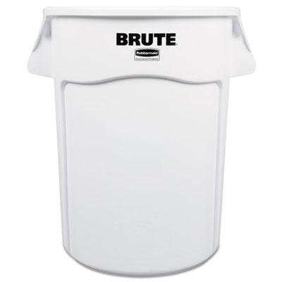 Brute Round Container, 44 gallon, White
