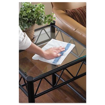 HYGEN Sanitizer Safe Microfiber Cloth, 16 x 19, White/Blue, 24/Pack