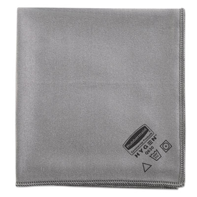 Executive Glass Microfiber Cloths, Gray, 16 x 16, 12/Pack