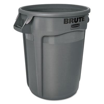 Brute Round Containers, 32 gallon, Black