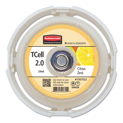 TC TCell 2.0 Air Freshener Refill, Citrus Zest, 24 mL Cartridge, 6/Carton