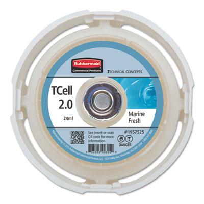 TC TCell 2.0 Air Freshener Refill, Marine Fresh, 24 mL Cartridge, 6/Carton