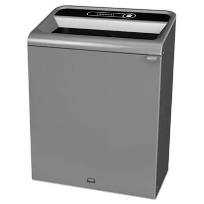 Configure Indoor Recycling Waste Receptacle, 45 gal, Gray, Landfill