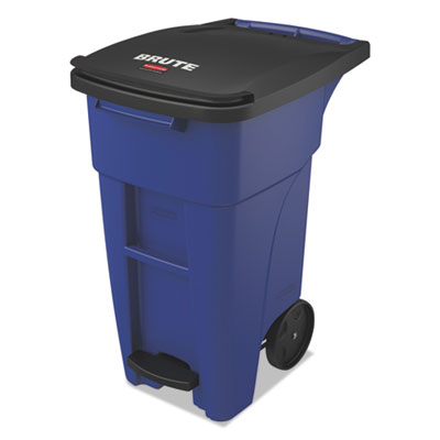 Brute Step-On Rollouts, Square, 50 gal, Blue