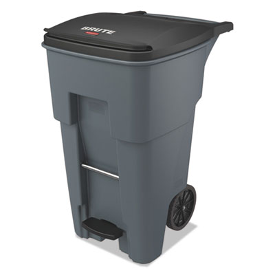 Brute Step-On Rollouts, Square, 65 gal, Gray