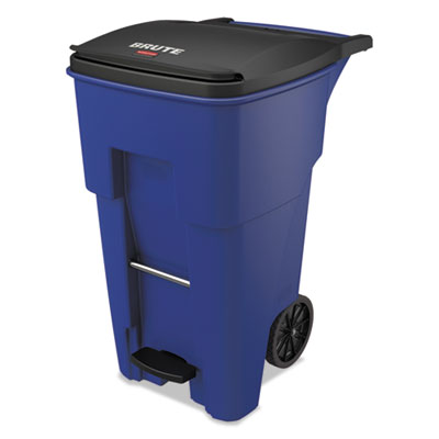 Brute Step-On Rollouts, Square, 65 gal, Blue