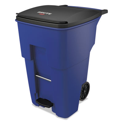 Brute Step-On Rollouts, Square, 95 gal, Blue