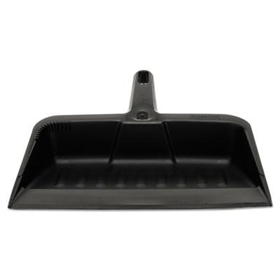 """Heavy-Duty Dustpan, 8 1/4"""" w, Polypropylene, Charcoal"""