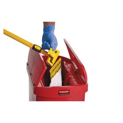 Biohazard Spill Mop Pads, White, 10/Carton