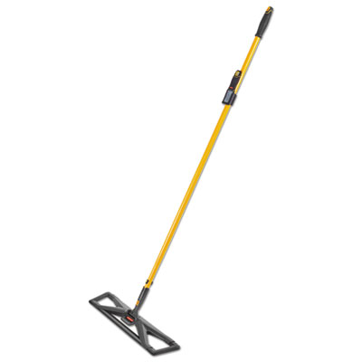 """Maximizer Dust Mop Frame with Handle and Scraper, 24"""" x 5.5"""", Yellow/Black"""