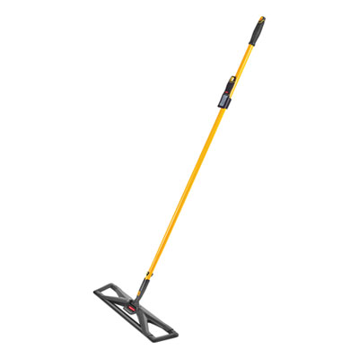 """Maximizer Dust Mop Frame with Handle and Scraper, 36"""" x 5.5"""", Yellow/Black"""