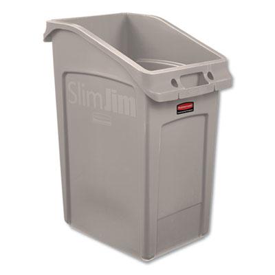 Slim Jim Under-Counter Container, 23 gal, Polyethylene, Beige