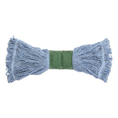 "Scrubbing Wet Mop, Cotton/Synthetic Blend, 19"" x 6"", Blue"