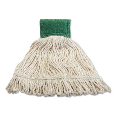 "Scrubbing Wet Mop, Cotton/Synthetic Blend, 19"" x 6"", White"