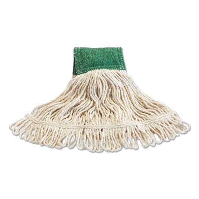 "Scrubbing Wet Mop, Cotton/Synthetic Blend, 15.75"" x 6"", White"