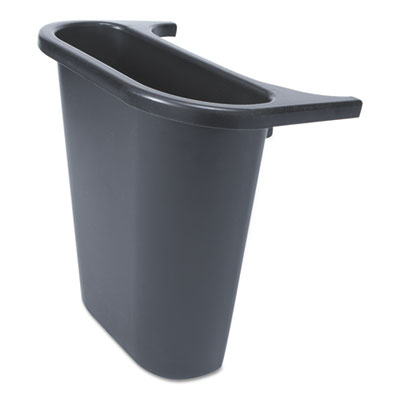 "Saddle Basket Recycling Bin, Rectangular, Black, 7 1/4""W x 10 3/5""D x 11 1/2""H"
